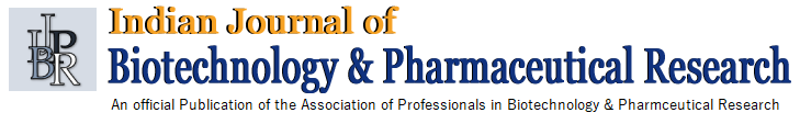 Indian Journal of Biotechnology and Pharmaceutical Research